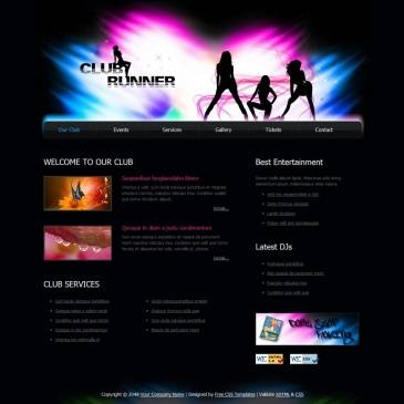Website template for night club